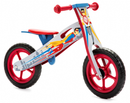 NIC864 Superhero Wooden Balance Bike